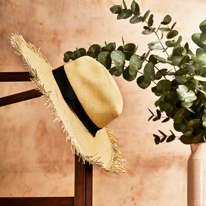 Nariño Woven Wide Brim Hat - The Colombia Collective