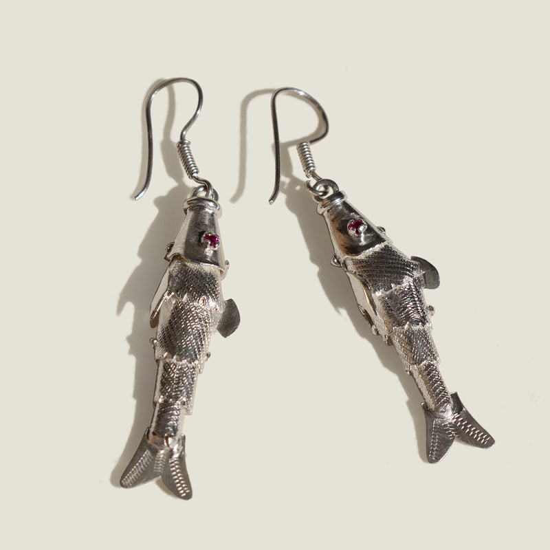 Mompox 950 Silver Fish Earrings - The Colombia Collective