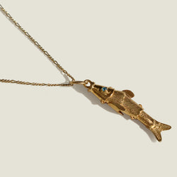 Mompox Gold Vermeil Fish Necklace - The Colombia Collective