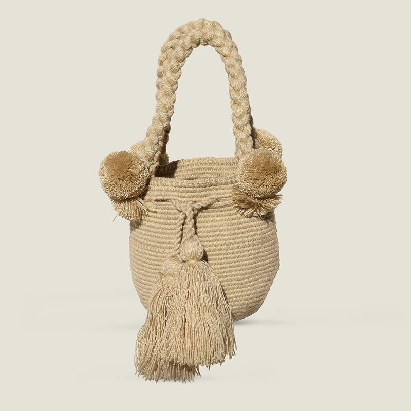Wayuu Small Pom Pom Bag - The Colombia Collective