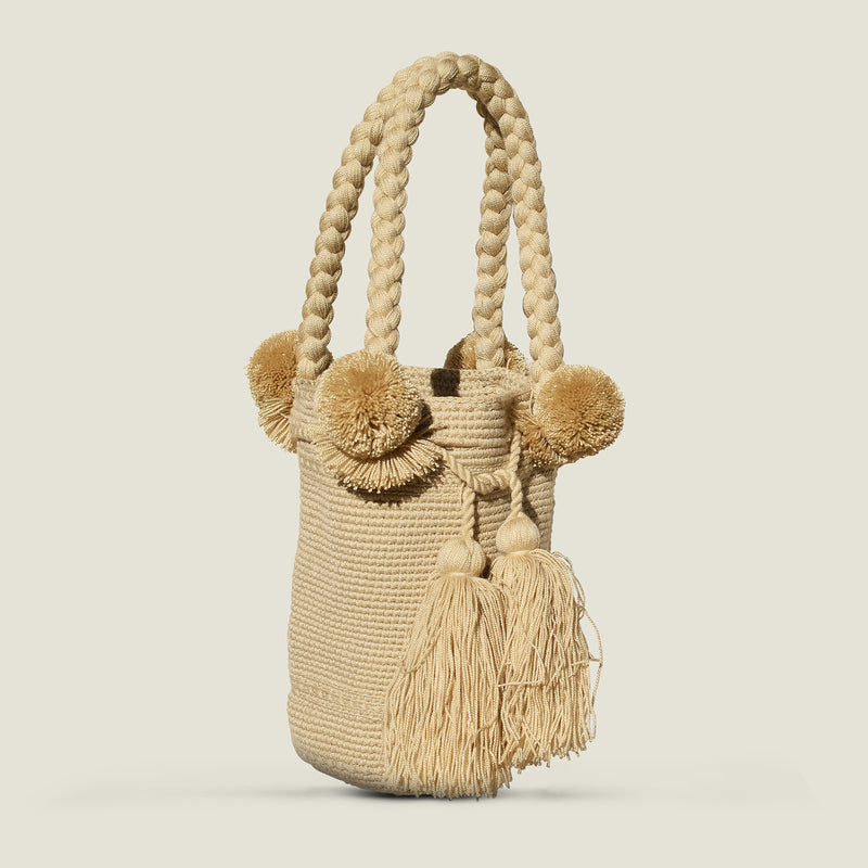 Wayuu Medium Pom Pom Bag - The Colombia Collective