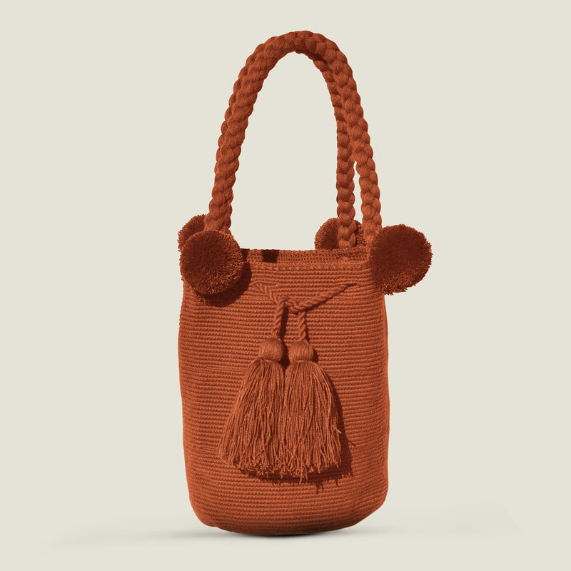 Wayuu Large Pom Pom Bag - The Colombia Collective