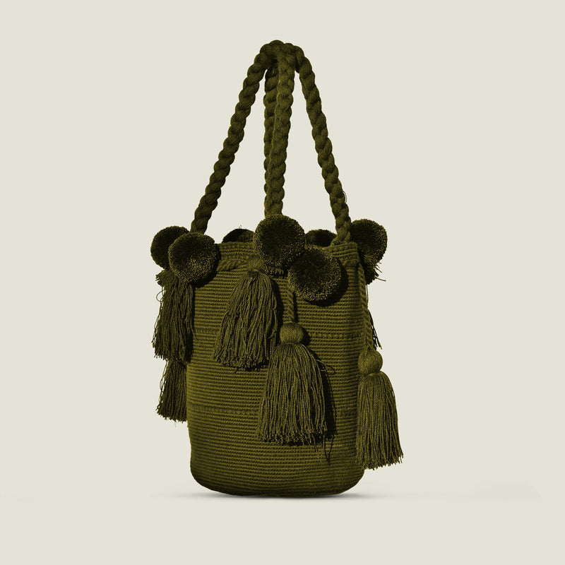 Wayuu Luxury Pom Pom Bag - The Colombia Collective