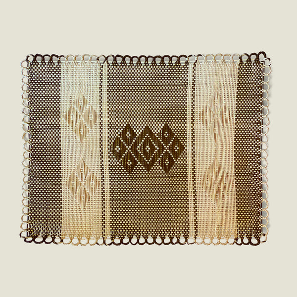 Sandona Bordered Woven Placemats (Set of 6) - The Colombia Collective