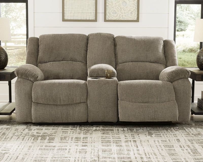 Draycoll Signature Design by Ashley DBL Rec Loveseat wConsole image