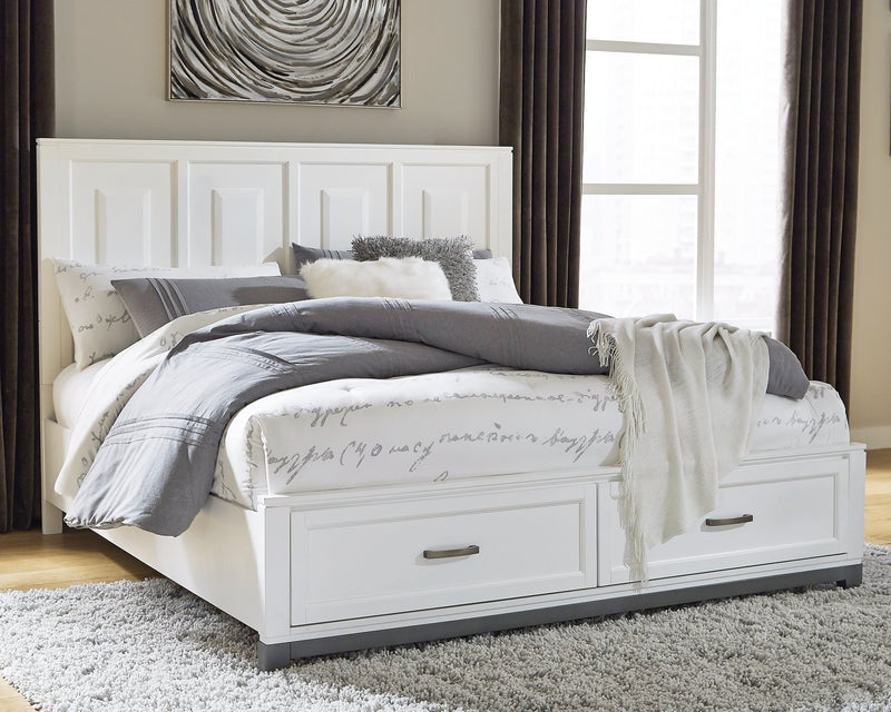 Brynburg Benchcraft Queen Panel Bed with 2 Storage Drawers image