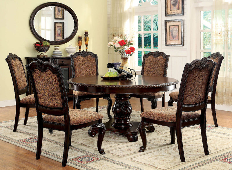 BELLAGIO Brown Cherry 5 Pc. Dining Table Set image