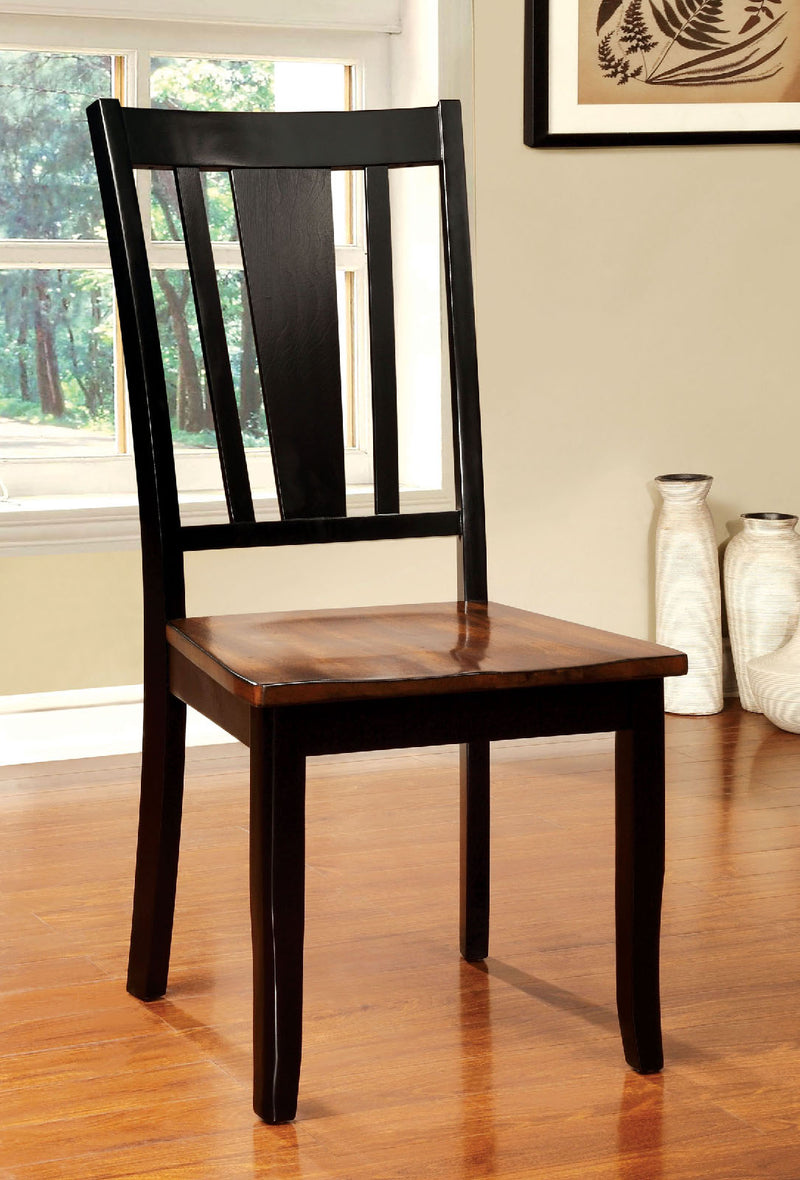 DOVER Black/Cherry Side Chair (2/CTN) image