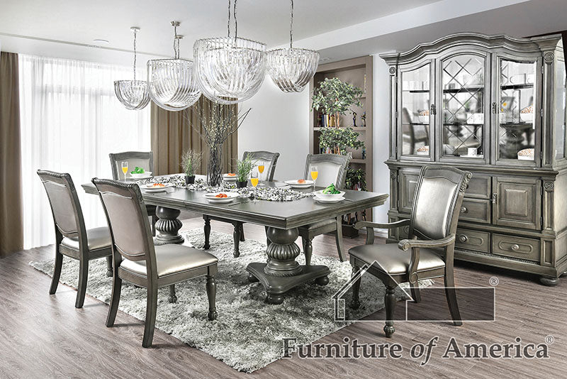 Alpena Gray 9 Pc. Dining Table Set (2AC+6SC) image