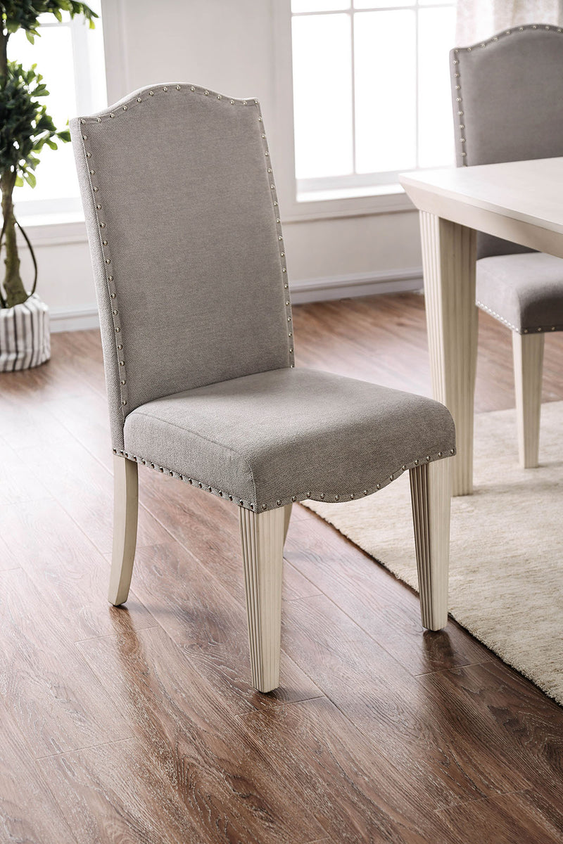 Daniella Gray/Antique White Side Chair (2/CTN) image