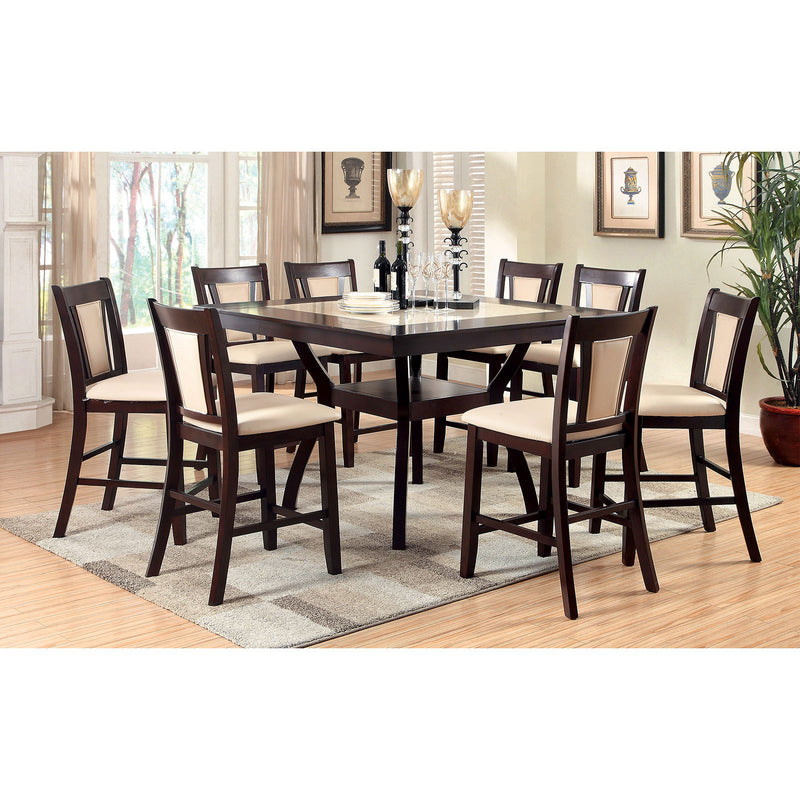 BRENT II Dark Cherry 9 Pc. Counter Ht.  Dining Table Set image