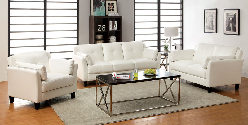 Pierre White Sofa + Love Seat, White image