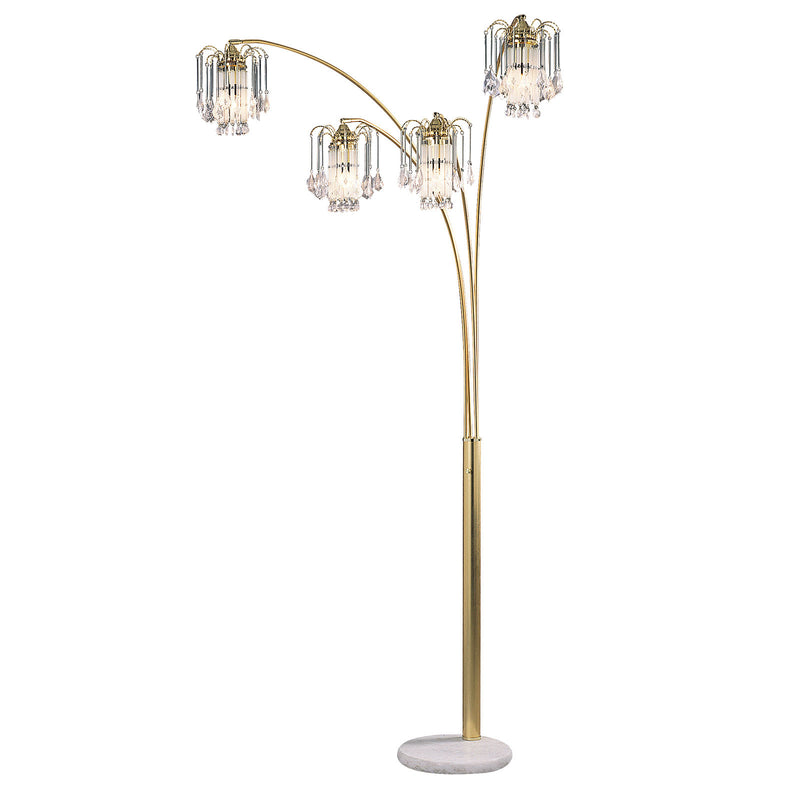 Elouise Sand Gold Arch Lamp image