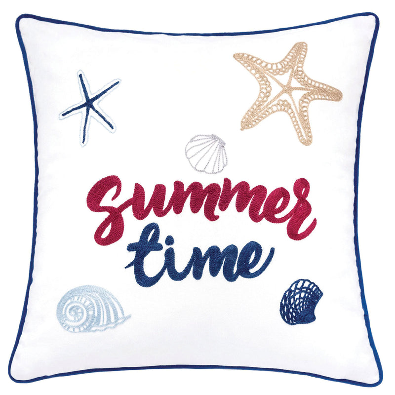 "Emmie White 20"" X 20"" Pillow, Summer Time image"