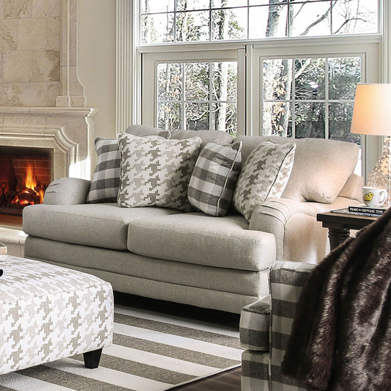 Christine Light Gray Love Seat image