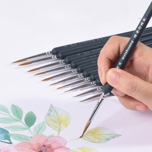 Puff Wooden Detail Brush Set