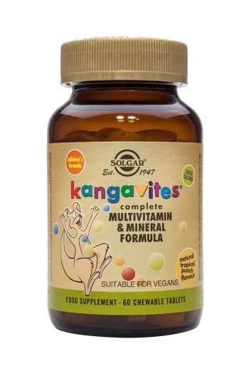 Solgar Kangavites(R) Multivitamin & Mineral Chewable Tablets Tropical Punch (60)