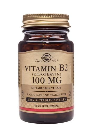 Vitamin B2 100 mg (Riboflavin) (100) Vegetable Capsules