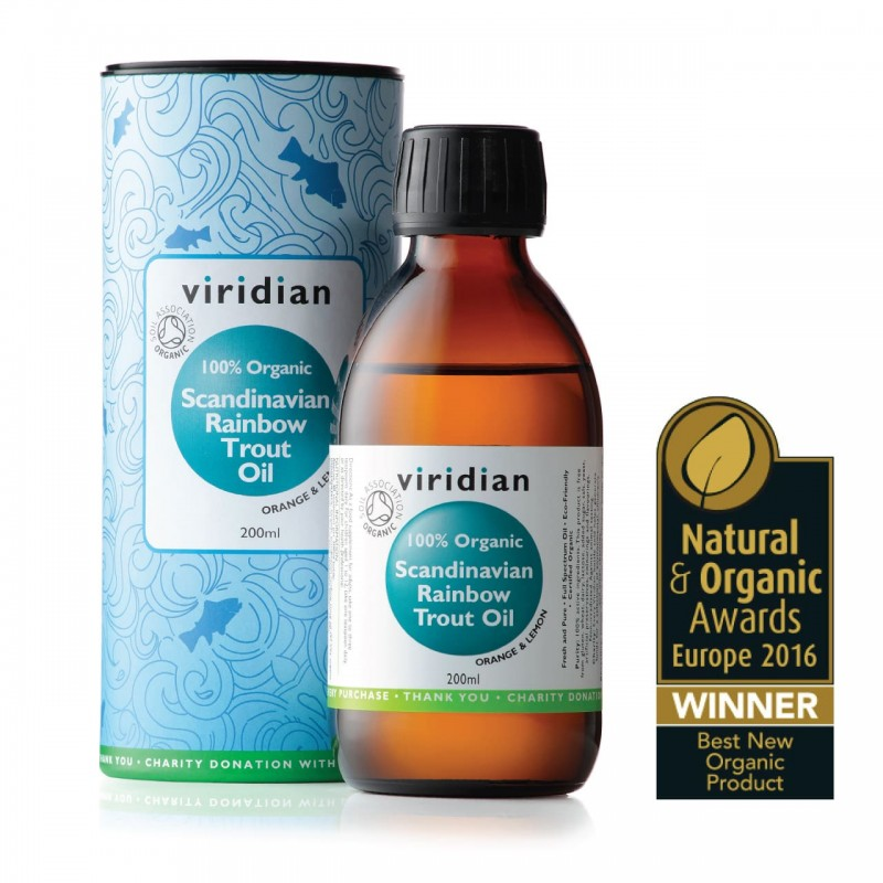 Viridian 100% Organic Trout Oil 200ml