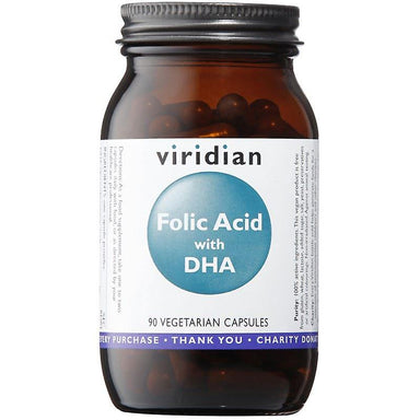 Viridian Folic Acid with DHA 90 capsules
