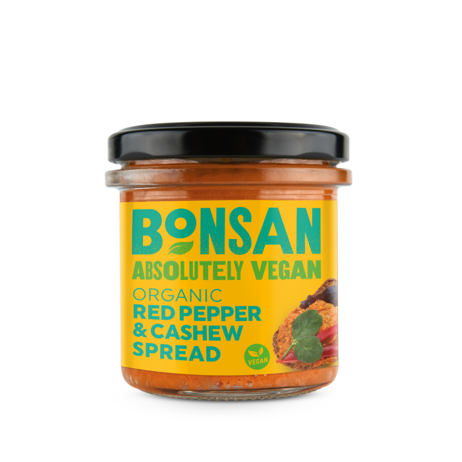 BONSAN ORGANIC RED PEPPER AND CASHEW SPREAD 130g