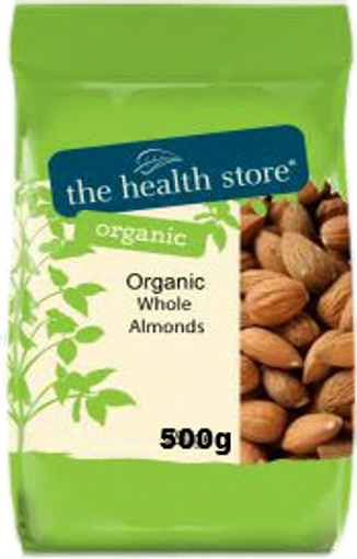 The Health Store Organic Whole Almonds 500g