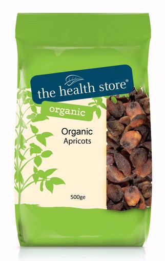 The Health Store Organic Whole Apricots 500g