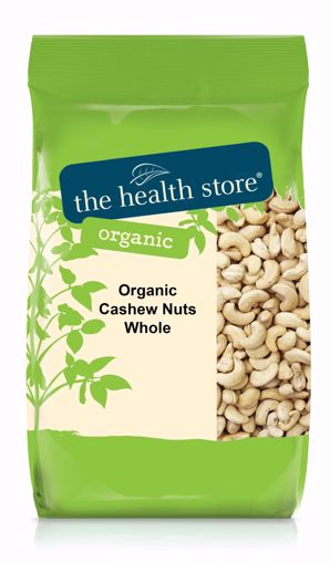 The Health Store Organic Whole Cashew Nuts 250g