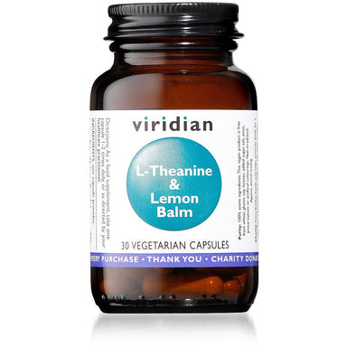 Viridian L Theanine & Lemon Balm 30 capsules