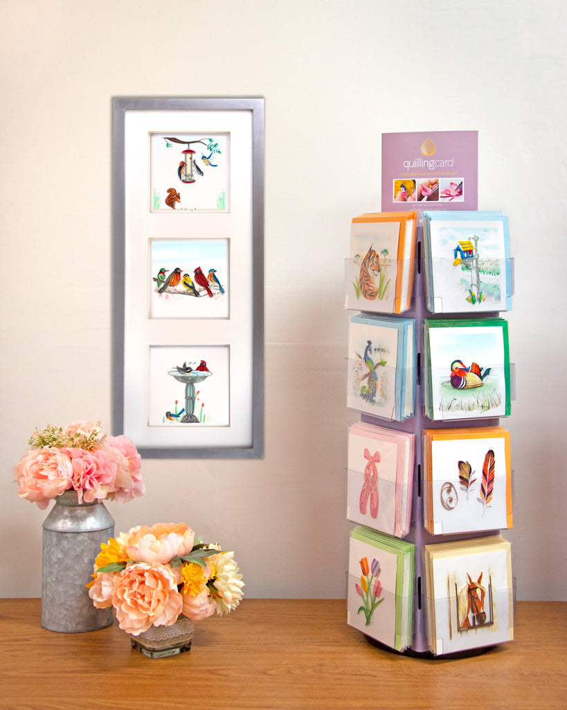 Quilling Card table top display.