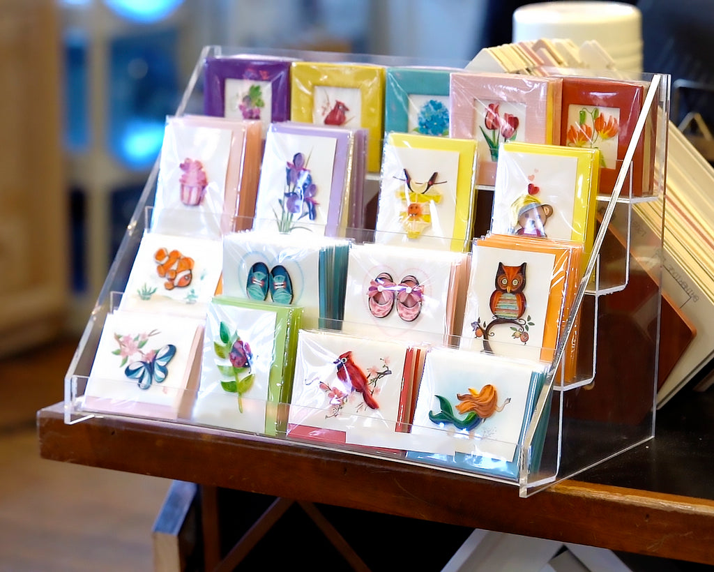 Gift enclosure and sticky note display
