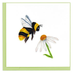 Quilled Bumble Bee Greeting Card
