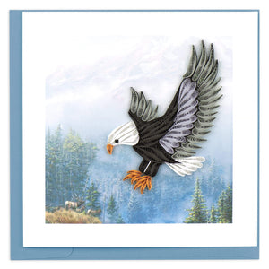 Quilled Flying Eagle Greeting Card