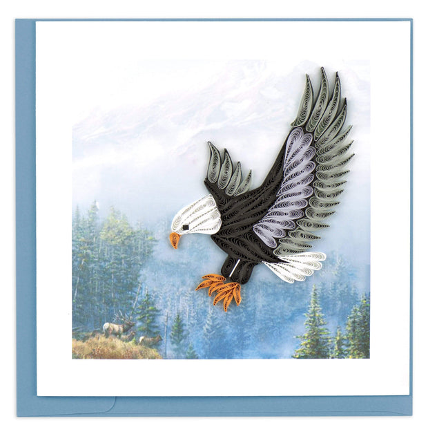 Quilled Flying Eagle Greeting Card 1