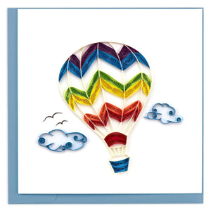 Quilled Hot Air Balloon Greeting Card