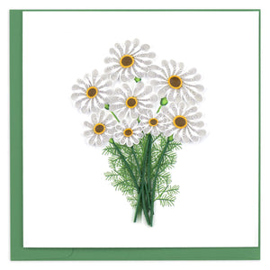 Quilled White Daisies Greeting Card