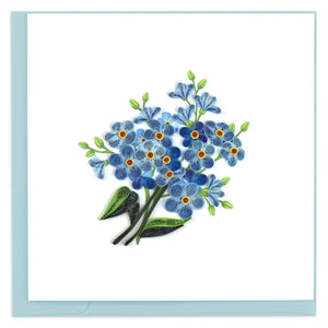 Quilled Alpine Forget Me Not Greeting Card