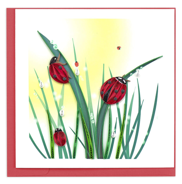 Quilled Ladybug Greeting Card 1
