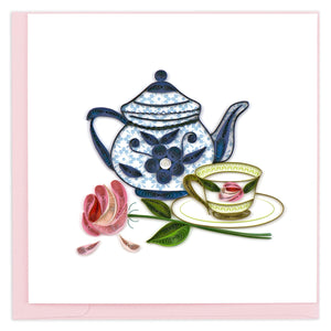 Quilled Tea Party Greeting Card