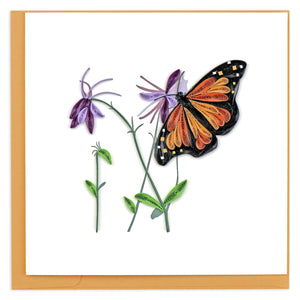 Quilled Monarch Butterfly Greeting Card