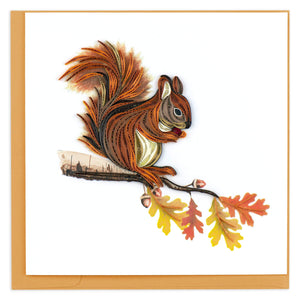 Quilled Squirrel Greeting Card