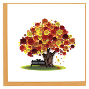 Quilled Autumn Tree Greeting Card
