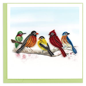 Quilled Songbirds Greeting Card
