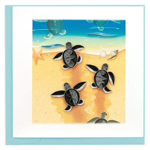 Quilled Sea Turtle Hatchlings Greeting Card