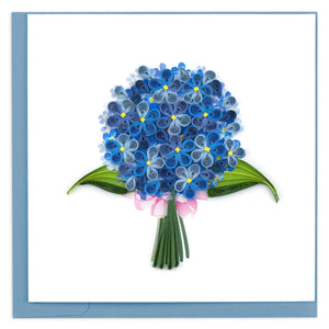 Quilled Hydrangea Greeting Card
