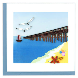 Quilled Pier Greeting Card