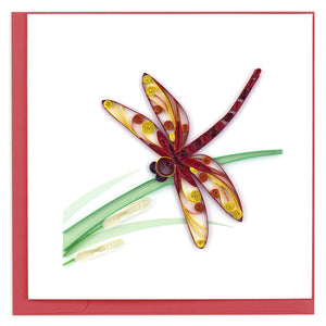 Quilled Dragonfly Greeting Card