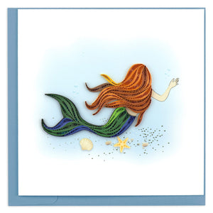 Quilled Mermaid Greeting Card
