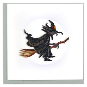 Quilled Witch Halloween Card