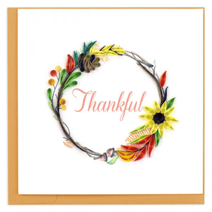 Quilled Thankful Wreath Greeting Card